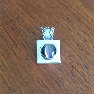 Jewelry - Gorgeous Sterling silver slide with purple stone